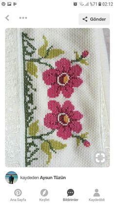 The most beautiful cross-stitch pattern - Knitting, Crochet Love Cross Stitch Beginner, Simple Cross Stitch, Cross Stitch Borders, Cross Stitch Letters, Modern Cross Stitch, Cross Stitch Flowers, Cross Stitch Samplers, Cross Stitch Designs, Embroidery Patterns