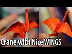 Easy Origami Crane with nice wings tutorial (Henry Phạm) - YouTube