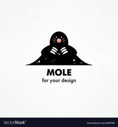 Cartoon Mole, Cute Cartoon, Nursing Books, Animal Logo, Adobe Illustrator, Thank You Cards, Vector Free, Logo Design, Darth Vader