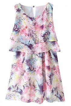 #Spring #AdoreWe #Oasap - #oasap Sweet A-Line Graphic Mini Dress - AdoreWe.com
