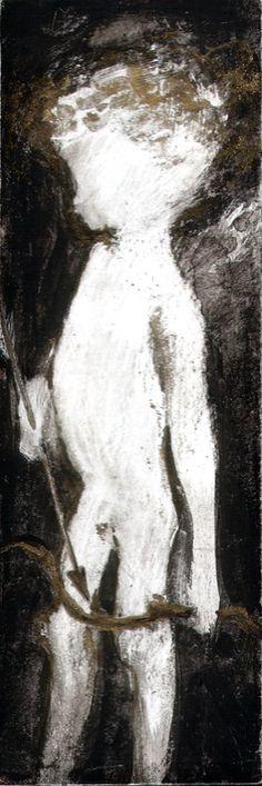 Ink & scratch over paper   2003