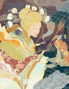 The Tale of the Bamboo Cutter by Yohey Horishita, via Behance