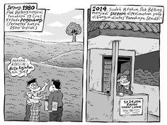Mice Cartoon, Kompas - 15 Februari 2015: Serpong, 1980 & 2014