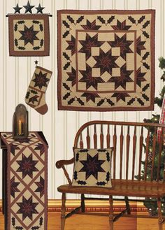 Christmas Star Galore Quilts | Choices Quilts offers Christmas Star Galore Quilts handmade for you! You can shop online or call us toll-free @ 1-800-572-2070 or 770-641-9700.