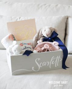 How sweet is this baby box! http://www.stylemepretty.com/living/2015/10/29/little-bunny-baby-gift-box/