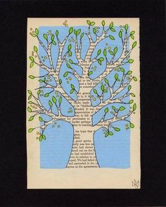 Tree illustration inspiration for all those books you've been collecting.