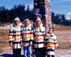 My brothers and me in Hudson Bay Blanket Coats purchased at the  French River Trading Post, French River Ontario...ca.1960