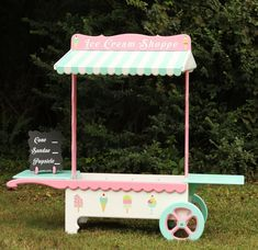 Ice Cream Stand Lemonade Stand Candy Stand by paisleycoutureframes, $450.00. We could make this ourselves for a fraction of the price...hmm