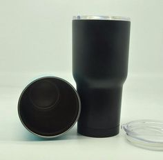 Matte Black 30oz Double Wall Stainless Steel Cup Tumbler - Glacier Outdoors