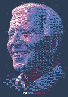 JOE 2020: The Stars and Stripes portrait #Mosaic #JoeBiden #Photomosaic #AmericanFlag #Patriotic #Leader #Poster #GraphicDesign