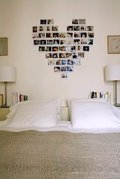 Cute way to decorate a dorm/bedroom with pictures