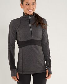 heathered black run full tilt pullover