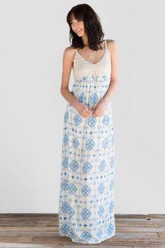 Sophia Printed Maxi Dress