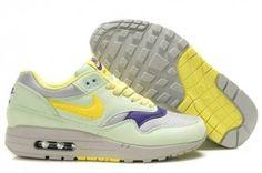 Acquistare donna nike air max 1 scarpe da running filament,verdi,limone-gialle,viola sconti dalla cina
