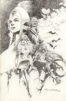 Vampirella 25th Anniversary Pin Up Comic Art