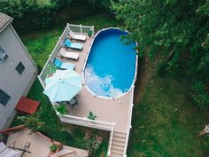 Paradis Pools in Plainville Connecticut provides top quality Pools and expert Installations of above ground pools. Above Ground Pool Landscaping, Backyard Pool Landscaping, Backyard Pool Designs, Backyard Ideas, Landscaping Ideas, Oval Above Ground Pools, In Ground Pools, Pool Ideas, Pool And Deck Ideas