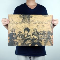 Vintage Anime One Piece Hand-drawing Poster //Price: $8.99 & FREE Shipping //     #OnePiece