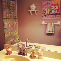 Owl Bathroom Set Decorating Pinterest And Kid Bathrooms