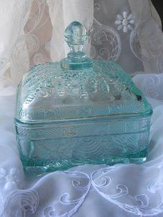 Aqua Vintage Beehive Dish by Fleur-de-Bee, via Flickr