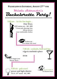 Bachelorette Party Pole Dancing Invite by soireebydesign, $1.50