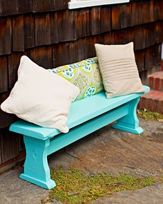 A Handmade Touch - painted flea market benches