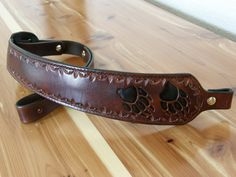 Custom Hand Tooled Leather Rifle Sling by GardnersWorkshop on Etsy, $115.00