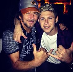 Niall Horan and Eddie Vedder