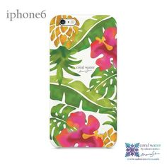 iphone6カバー (トロピカル) - coral water