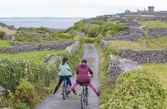 Bicycling along an Irish road…Watch out for the sheep! Connemara, Aran Islands Ireland, Dame Nature, Galway Ireland, Far Away, Pathways, Great Britain, Scenery, Ocean