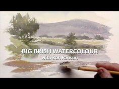 Big Brush Watercolour: Ron Ranson - YouTube