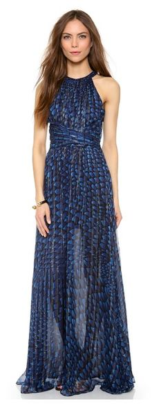 Game of Thrones Fashion Re-Imagined - Daenerys Targaryen may have chosen this ISSA Metallic Chiffon Open Back Gown today rather than her blue dress in Season 3