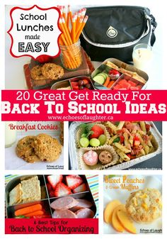 20 Great  Back To School Ideas-lots of great ideas here...everything from recipes or organizing ideas!