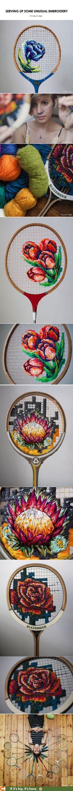Danielle Clough Serves Up Some Unusual Embroidery - if it's hip, it's here