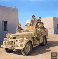 British LRDG North Africa WWII Long Range Desert Group Afrika Corps, Nz History, North African Campaign, British Armed Forces, Military Modelling, War Photography, Military Diorama, Ww2 Tanks, Military Equipment