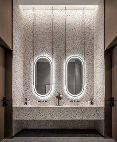 【新提醒】上坤&大发·铭悦四季|YSD_商业展厅_室内设计联盟 - Powered by Discuz! Washroom Design, Vanity Design, Toilet Design, Bathroom Mirror Inspiration, Teenage Bathroom, Public Bathrooms, Interior Design Studio, Kitchen And Bath, Architecture Details