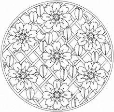 Mandalas-many flowers
