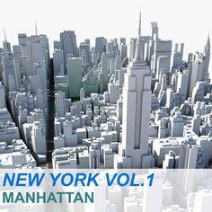 New York Manhattan Vol 3D Max - 3D Model