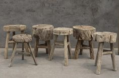Again, wooden stools Salvaged Wood, Old Wood, Log Furniture, Furniture Design, Diy Upcycling, Into The Woods, My Home Design, Wood Stool, Wood Crafts