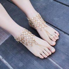 Crystal Cuff Anklet Bracelet Charm Jewelry