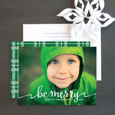 Be Merry Holiday Photo Cards by Emily Crawford   Elli