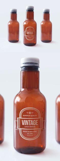 9 Free PSD Bottle Mockups : Mason Jar/Beer Bottle/Juice Bottle etc.