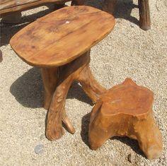 פינת ישיבה מעץ טבעי חלק