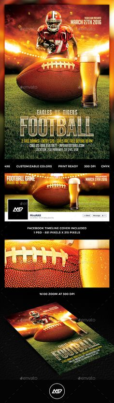 American Football Flyer American football, Flyer template and - football flyer template