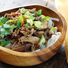 Boneless pork roast slow cooked in Asian spices creates a aromatic pork dish with mushrooms and broth