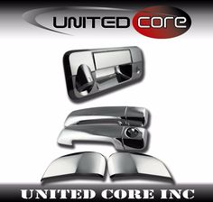 07-14 TOYOTA TUNDRA DOUBLE CAB Top Half Mirror+Chrome 4 Door Handle Cover 2014