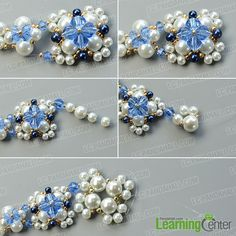Detailed Tutorial on How to Make an Exquisite Pearl Bead Flower Pendant Necklace: Searching for pearl necklace designs? Today we'd like to share you a very exquisite pearl bead flower pendant necklace, I bet you'll like the design. Pearl Beads, Pearl Jewelry, Beaded Jewelry, Handmade Jewelry, Pearl Necklace Designs, Jewelry Center, Beaded Ornaments, Snowman Ornaments, Glass Ornaments