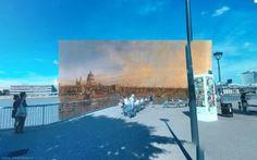 River Thames - Pinturas de Londres del Siglo XVIII pegadas en la vista de Google Street View - http://2ba.by/12nbt