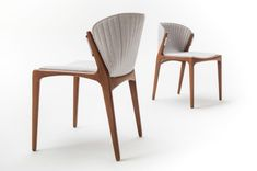 luisa - estudiobola Upholstered Chairs, Bar Stools, Solid Wood, Armchair, Dining Chairs, Interior, Table, Furniture, Home Decor