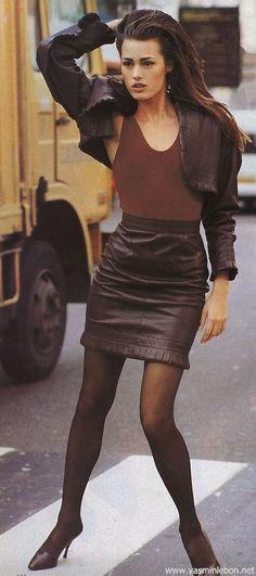 yasmin le bon bill blass runway | 1987 editorials