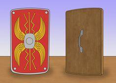 How to Make a Roman Style Shield Roman Shield, Roman Sword, Pax Romana, Roman Legion, My Father's World, Party Costumes, Diorama Ideas, Roman Soldiers, Roman Fashion
